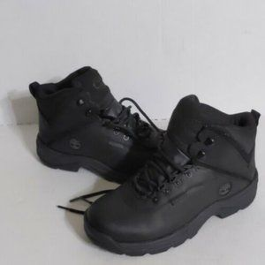 Timberland  Black White Ledge Leather Lace Up Boot